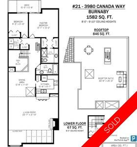 Burnaby Hospital Condo for sale:  2 bedroom 1,582 sq.ft. (Listed 2019-03-14)